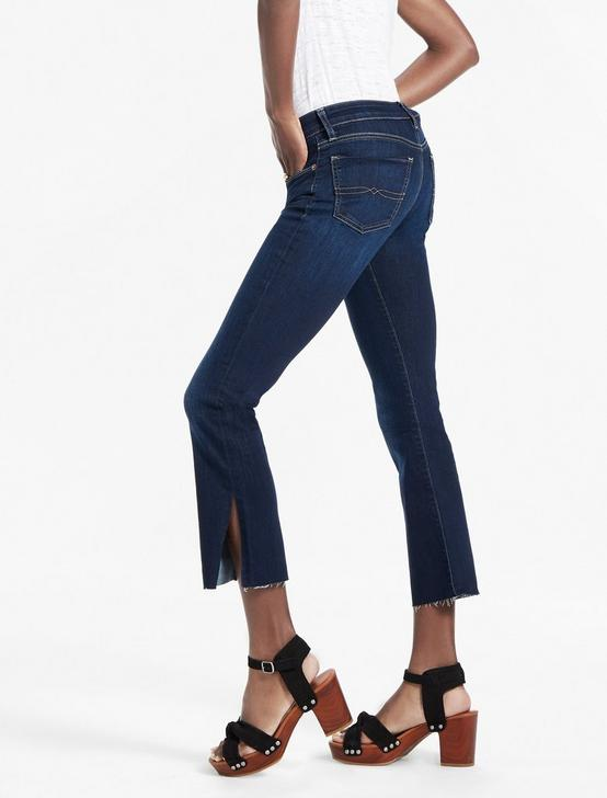 SWEET MID RISE CROPPED BOOTCUT JEAN WITH SIDE SLIT, TWILIGHT BLUE-SLIT, productTileDesktop