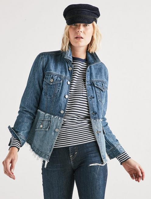 REMADE PIECED WAIST JEAN TRUCKER JACKET,