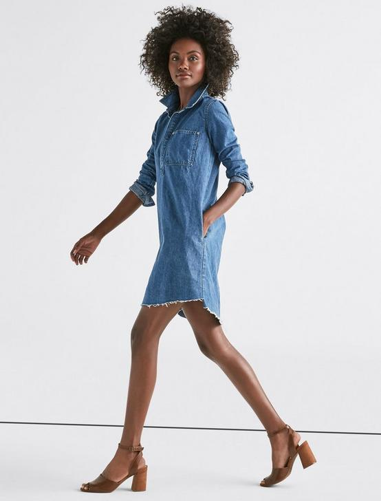 DENIM POPOVER DRESS, ALVARADO, productTileDesktop