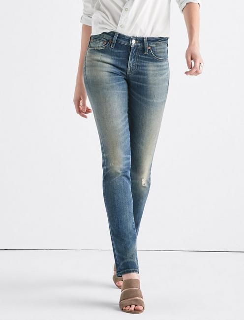 Sweet Mid Rise Tinted Straight Jean,