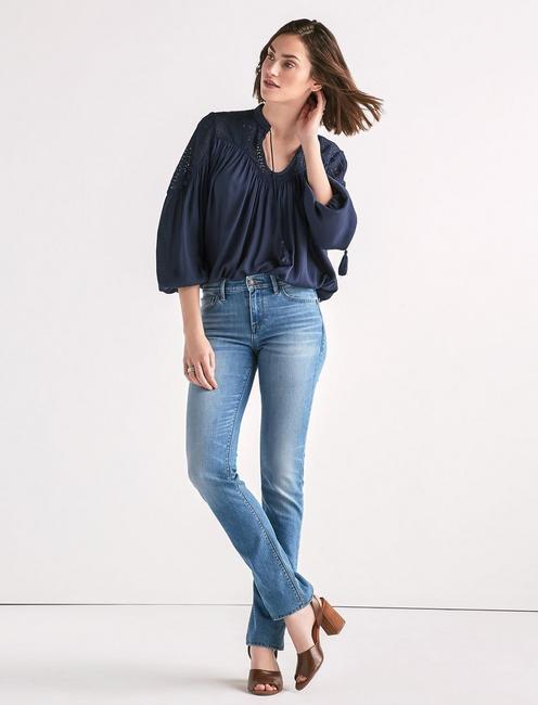 Ava Mid Rise Straight Jean,