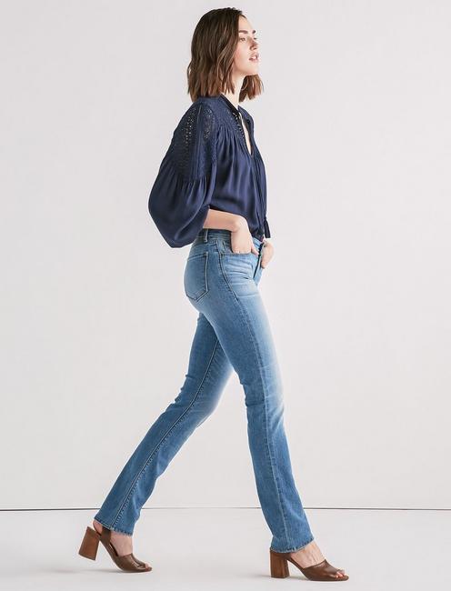 Ava Mid Rise Straight Jean, BALDWIN