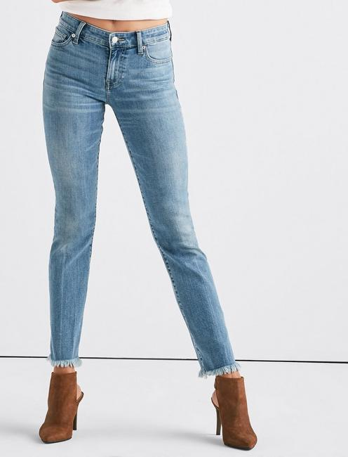 Lucky Ava Mid Rise Straight Jean With Vent