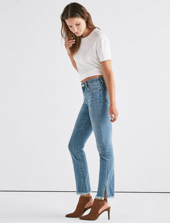 Ava Mid Rise Straight Jean with Vent, AGNES, productTileDesktop