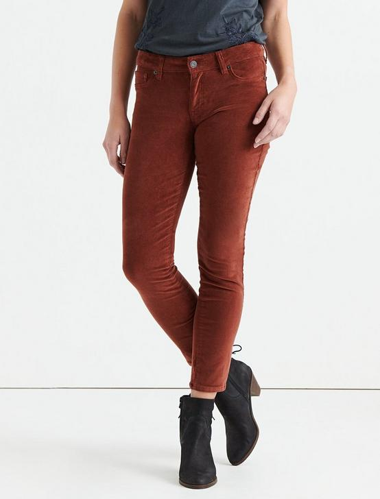LOLITA MID RISE SKINNY CORDUROY PANT, CHERRY MAHOGANY, productTileDesktop