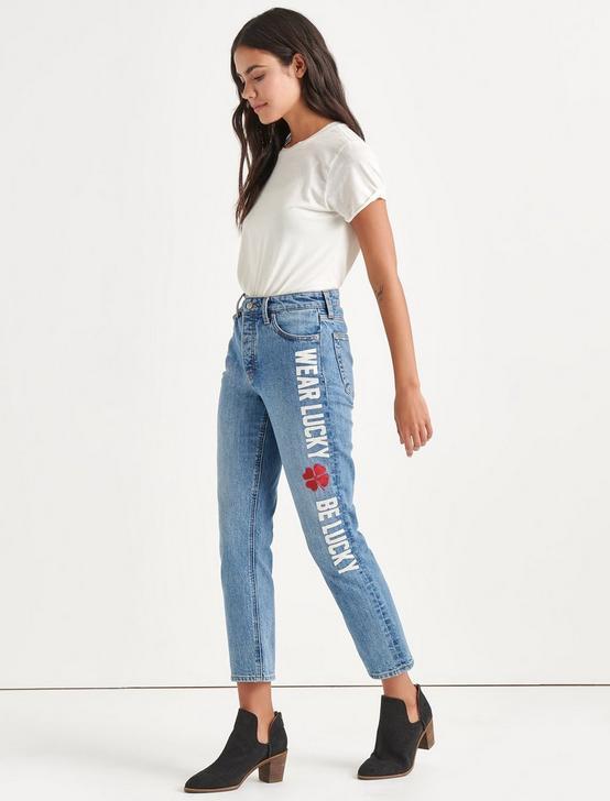Totally Lucky Bridgette Straight Jean, NINETIES BLUE, productTileDesktop