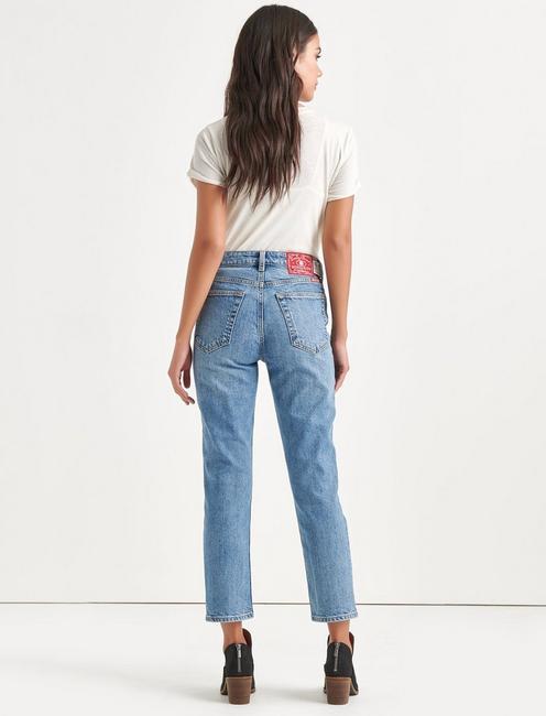 Totally Lucky Bridgette Straight Jean, NINETIES BLUE