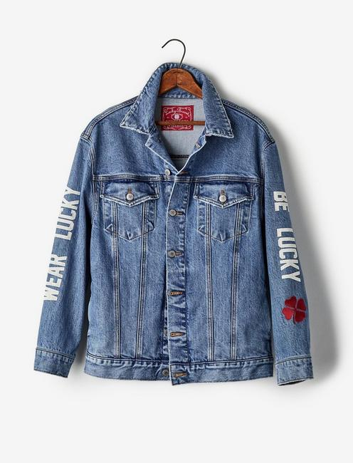 Totally Lucky Boyfriend Trucker Jacket,