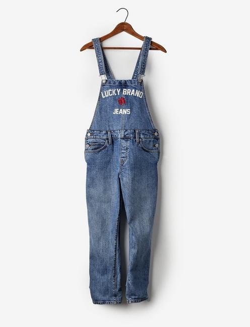 Totally Lucky Boyfriend Denim Overalls,