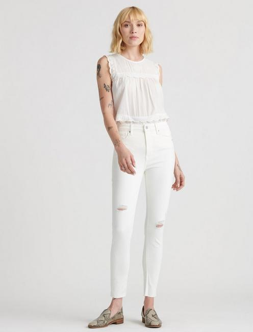 HIGH RISE BRIDGETTE SKINNY, PREMIUM WHT DESTRUCT