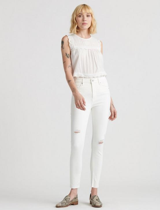 HIGH RISE BRIDGETTE SKINNY, PREMIUM WHT DESTRUCT, productTileDesktop