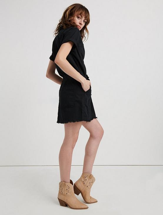 DRAWSTRING DRESS, 001 LUCKY BLACK, productTileDesktop