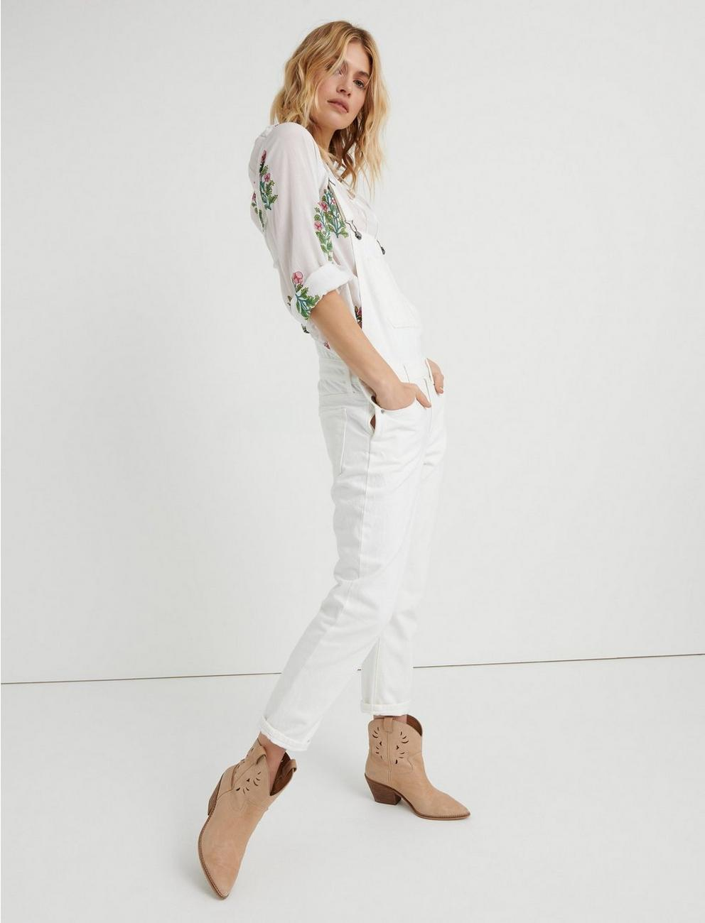 BOYFRIEND OVERALL, CLEAN WHITE