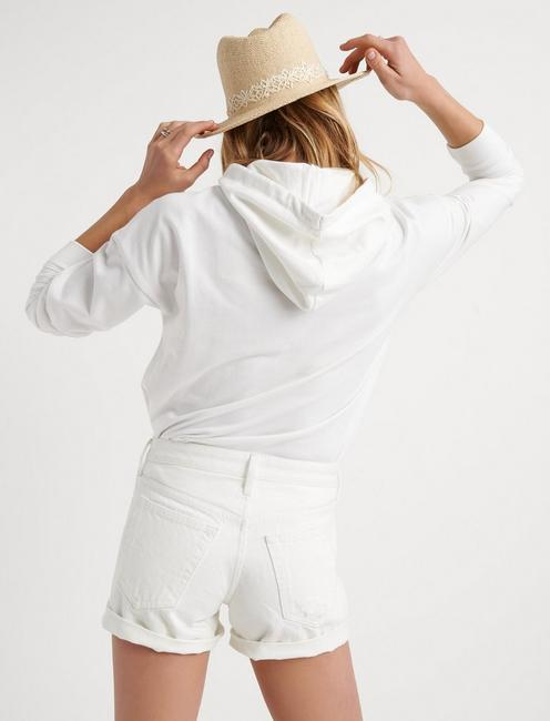 THE BOYFRIEND SHORT, WHITE DESTRUCTED