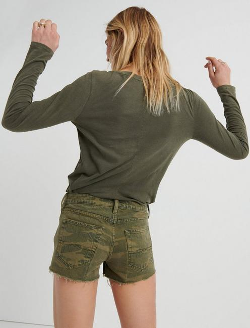 THE CUT OFF JEAN SHORT, CLASIC CAMO