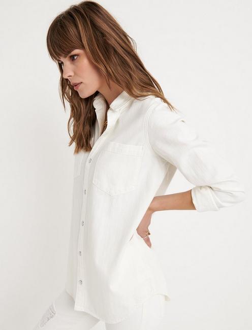 BOYFRIEND SHIRT, CLEAN WHITE