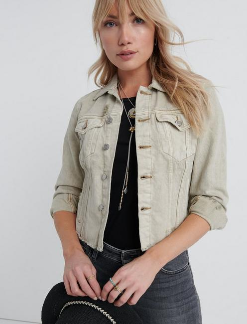 TOMBOY TRUCKER, ANTIQUE BEIGE FRAY