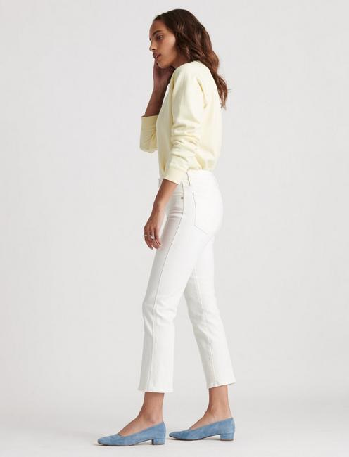 MID RISE AUTHENTIC STRAIGHT CROP, SUMMER WHITE