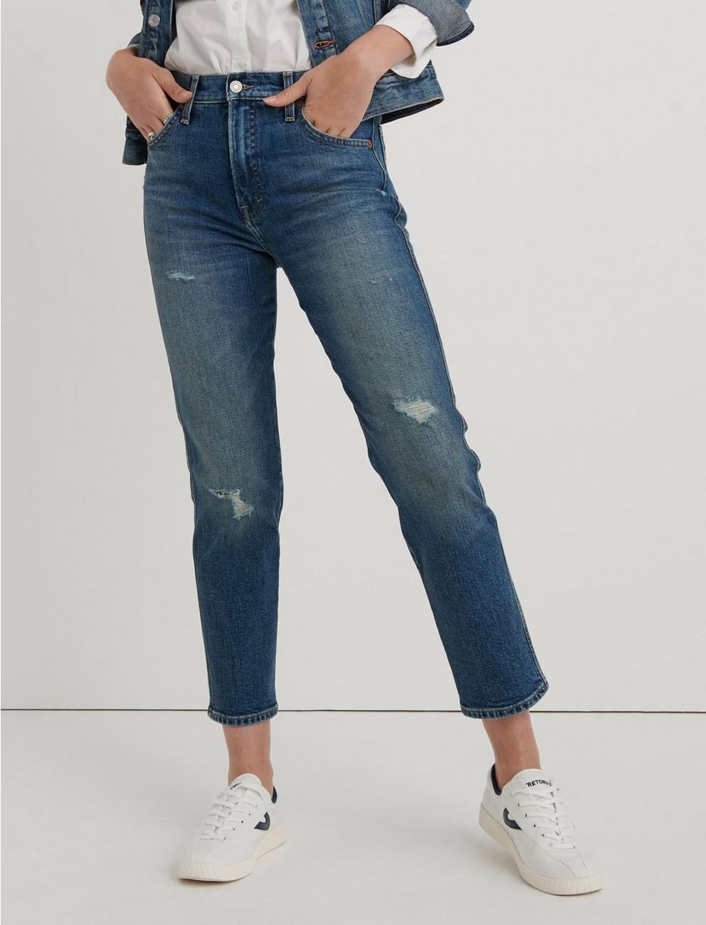 MID RISE AUTHENTIC STRAIGHT CROP JEAN, BROWNSVILLE