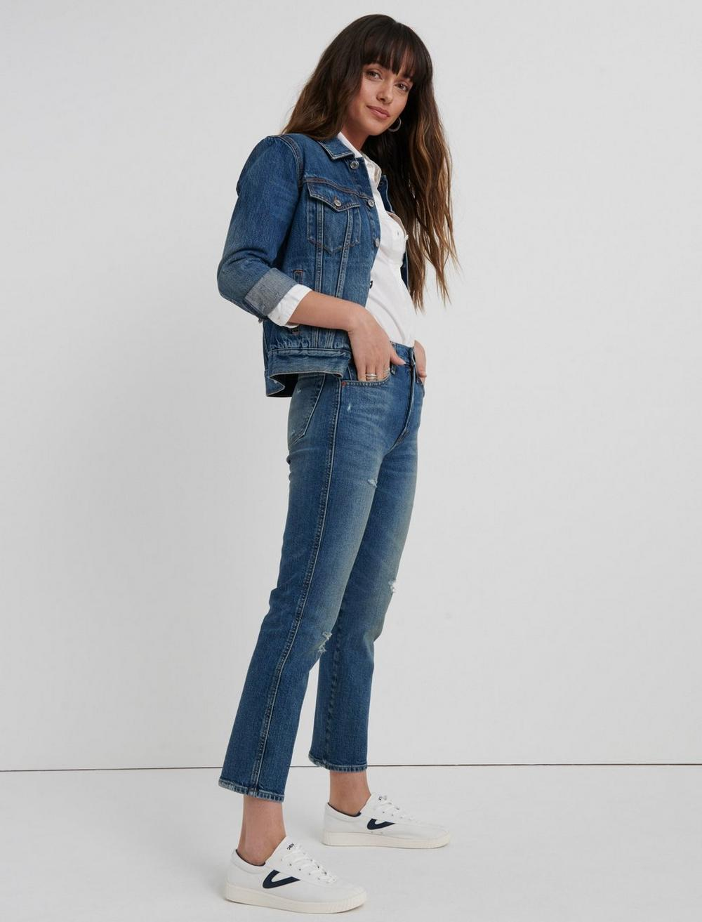 MID RISE AUTHENTIC STRAIGHT CROP JEAN, image 2