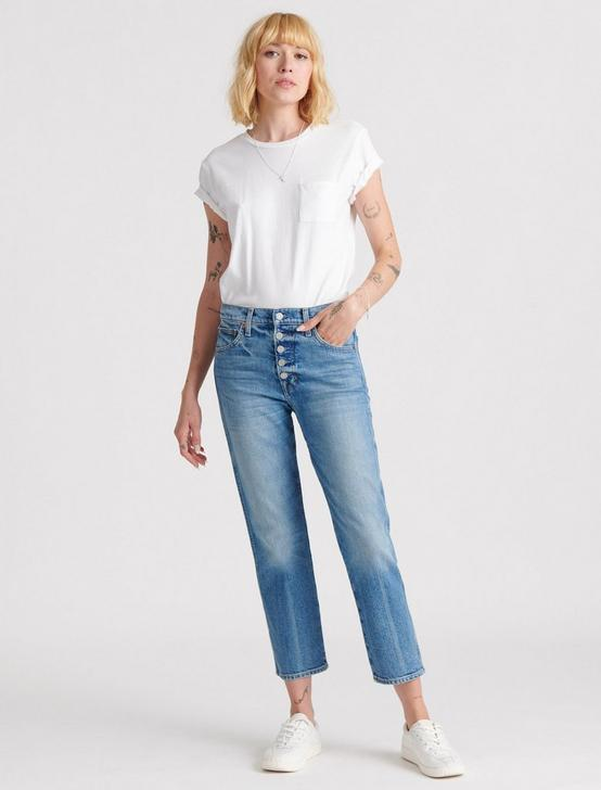 Mid Rise Authentic Straight Crop Jean
