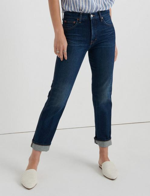 Mid Rise Authentic Straight Crop