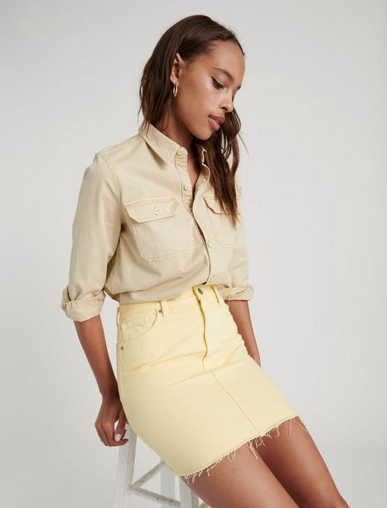OLD FAVORITE MINI SKIRT, PASTEL YELLOW CT, productTileDesktop