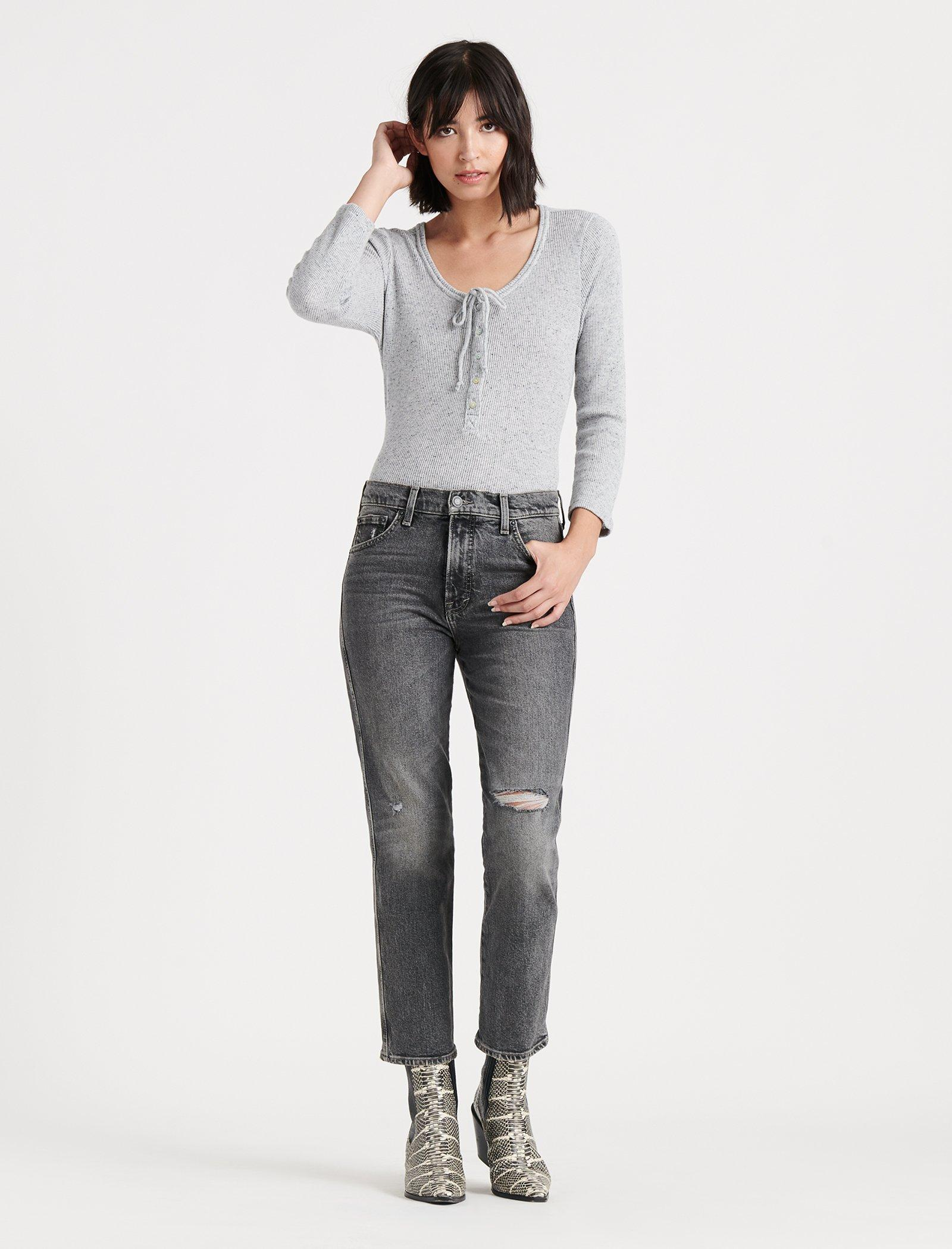 MID RISE AUTHENTIC STRAIGHT CROP JEAN, image 1