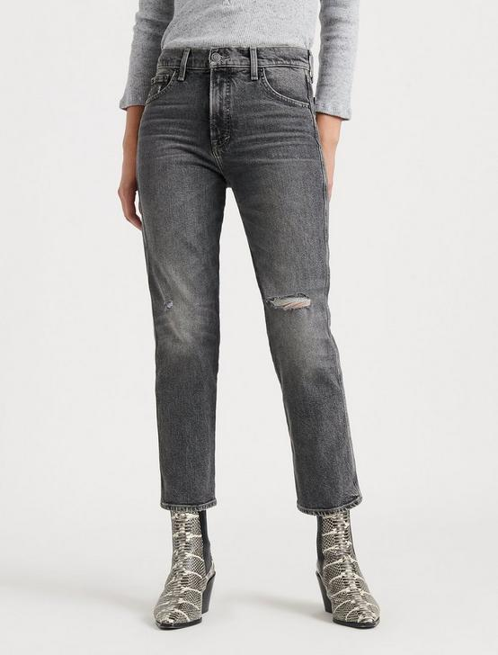 MID RISE AUTHENTIC STRAIGHT CROP JEAN, CRATER LAKE, productTileDesktop