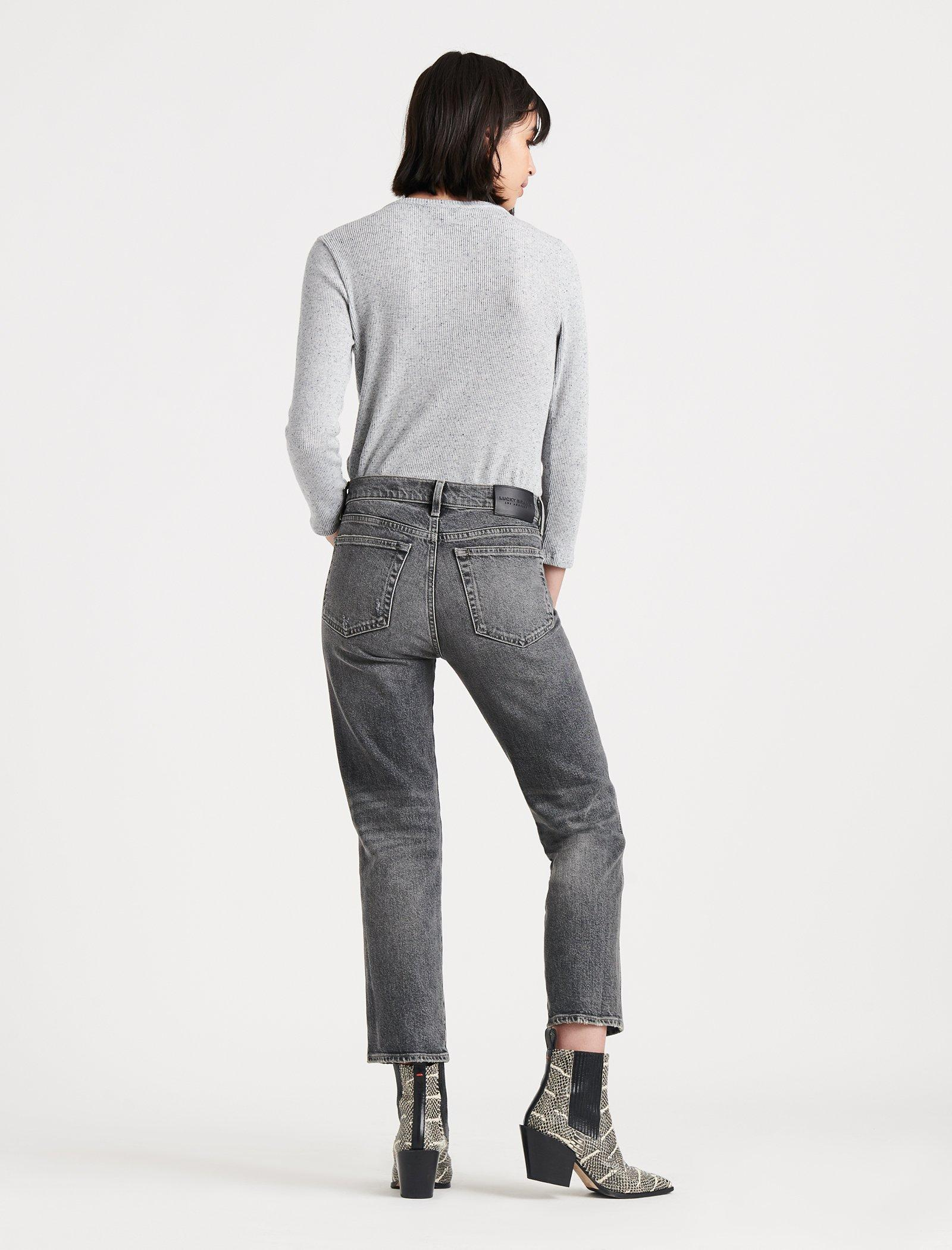MID RISE AUTHENTIC STRAIGHT CROP JEAN, image 4