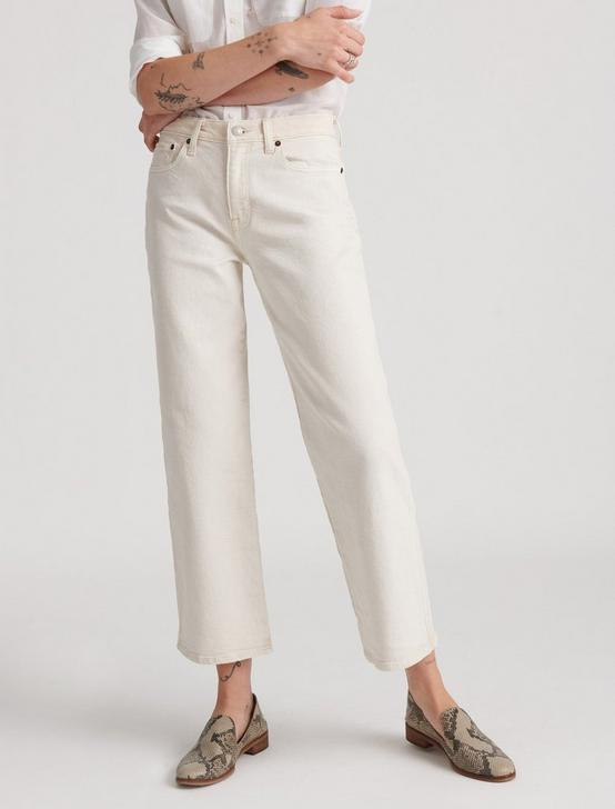 MID RISE CROP WIDE LEG JEAN, WARM WHITE, productTileDesktop