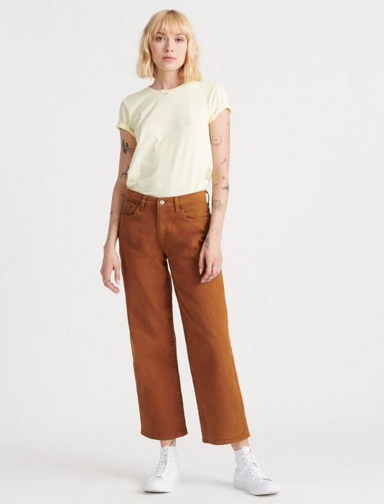 MID RISE CROP WIDE LEG JEAN, MONKS ROBE, productTileDesktop