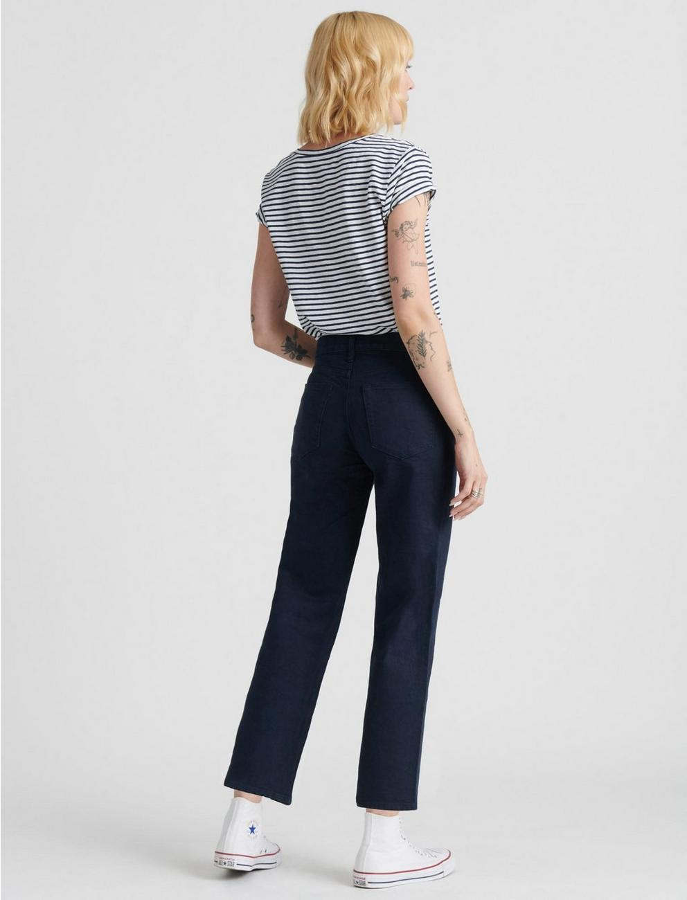 MID RISE CROP WIDE LEG JEAN, MIDNIGHT