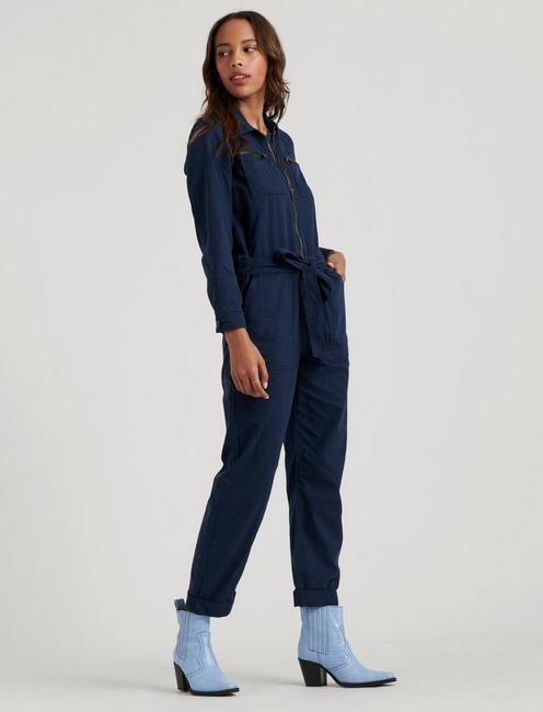 TIE FRONT JUMPSUIT, MIDNIGHT