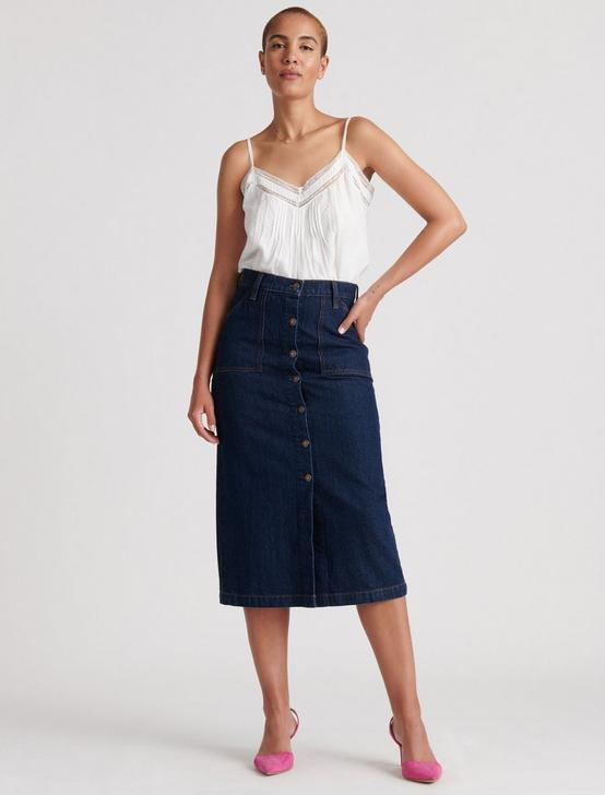 BUTTON THRU MIDI SKIRT, LIVINGSTON, productTileDesktop