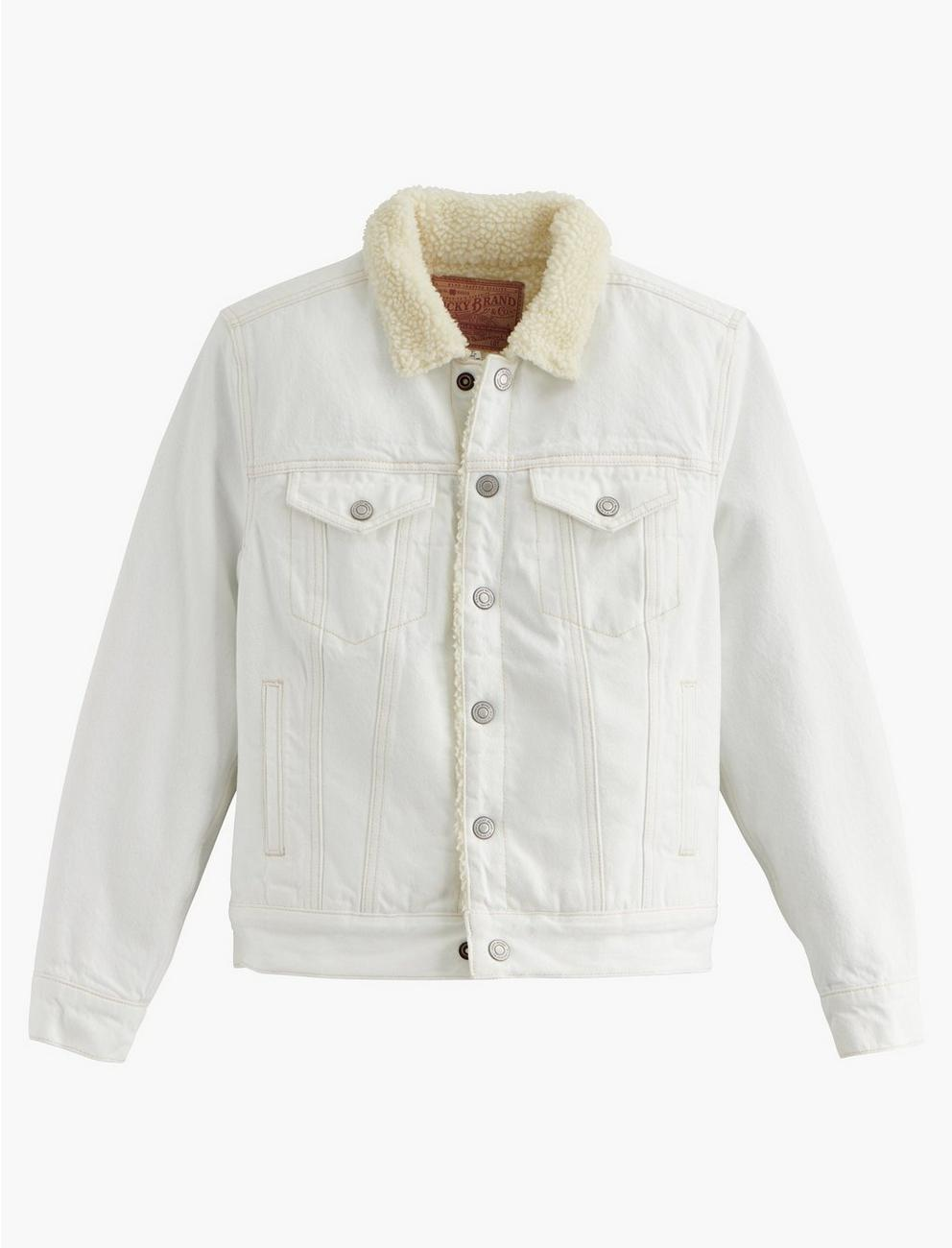 TOMBOY TRUCKER W/ SHERPA, CLEAN WHITE