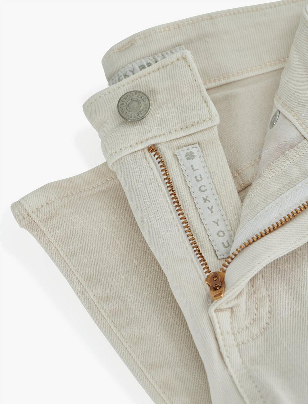 MID RISE AVA SLIM JEAN, WARM WHITE