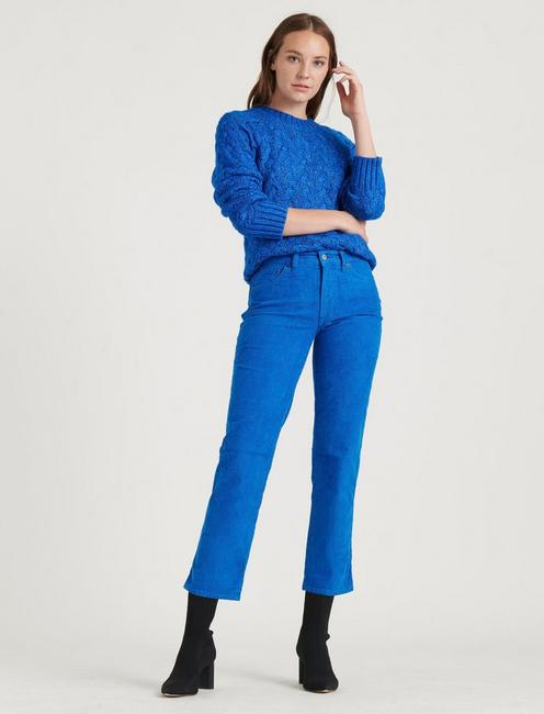 MID RISE AUTHENTIC STRAIGHT CROP CORDUROY JEAN,