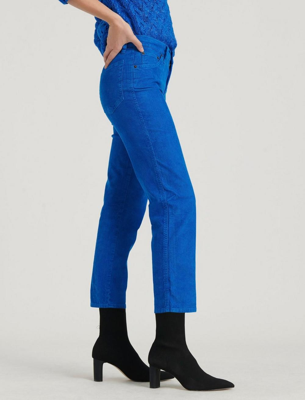MID RISE AUTHENTIC STRAIGHT CROP CORDUROY JEAN, image 3