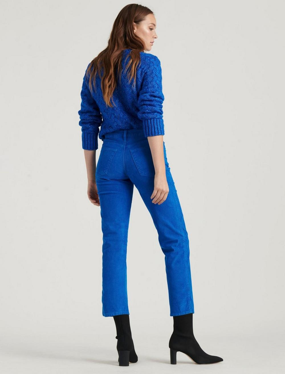 MID RISE AUTHENTIC STRAIGHT CROP CORDUROY JEAN, image 4