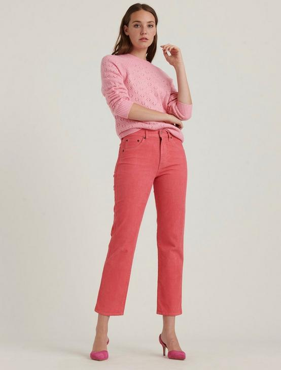 MID RISE AUTHENTIC STRAIGHT CROP CORDUROY JEAN, VINTAGE TEA ROSE, productTileDesktop