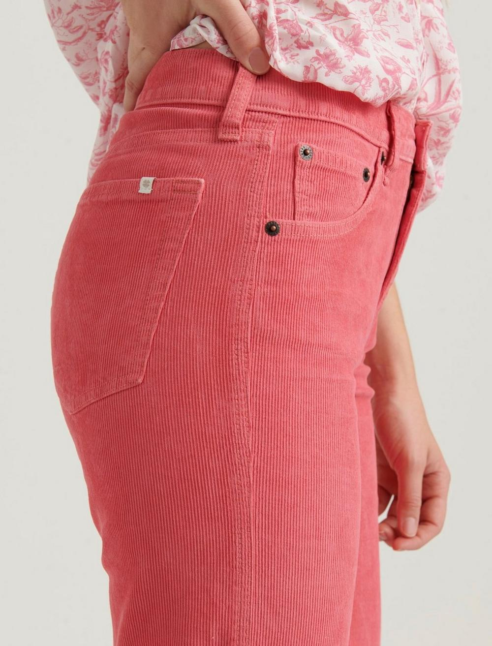 MID RISE AUTHENTIC STRAIGHT CROP CORDUROY JEAN, image 6