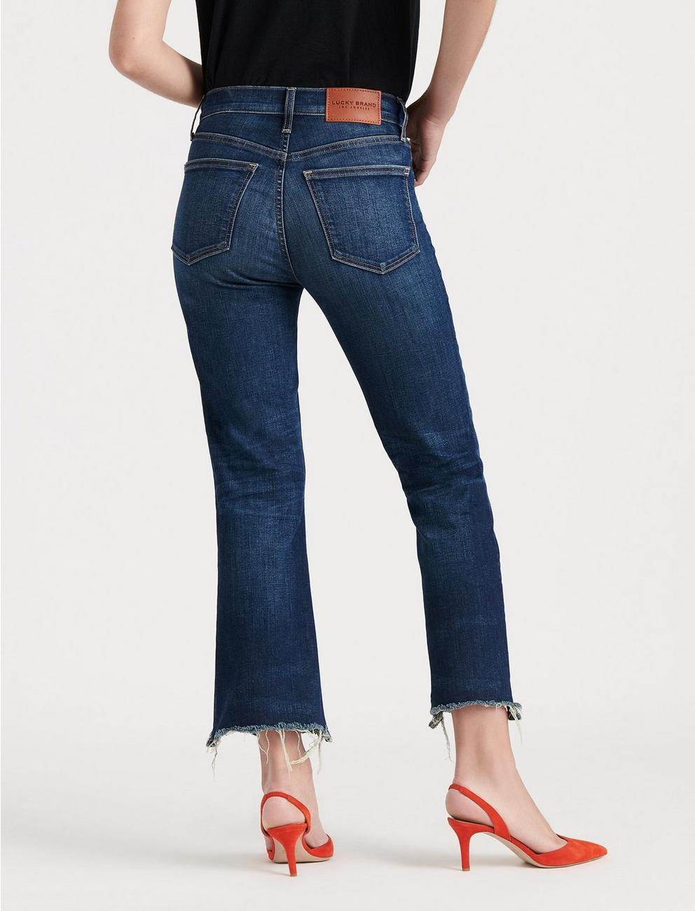 HIGH RISE BRIDGETTE CROP MINI BOOT JEAN, CUPID