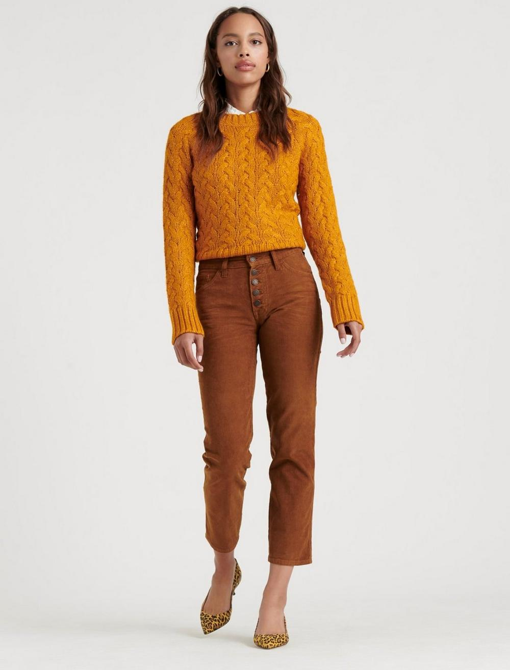 MID RISE AUTHENTIC STRAIGHT CROP CORDUROY JEAN, image 1
