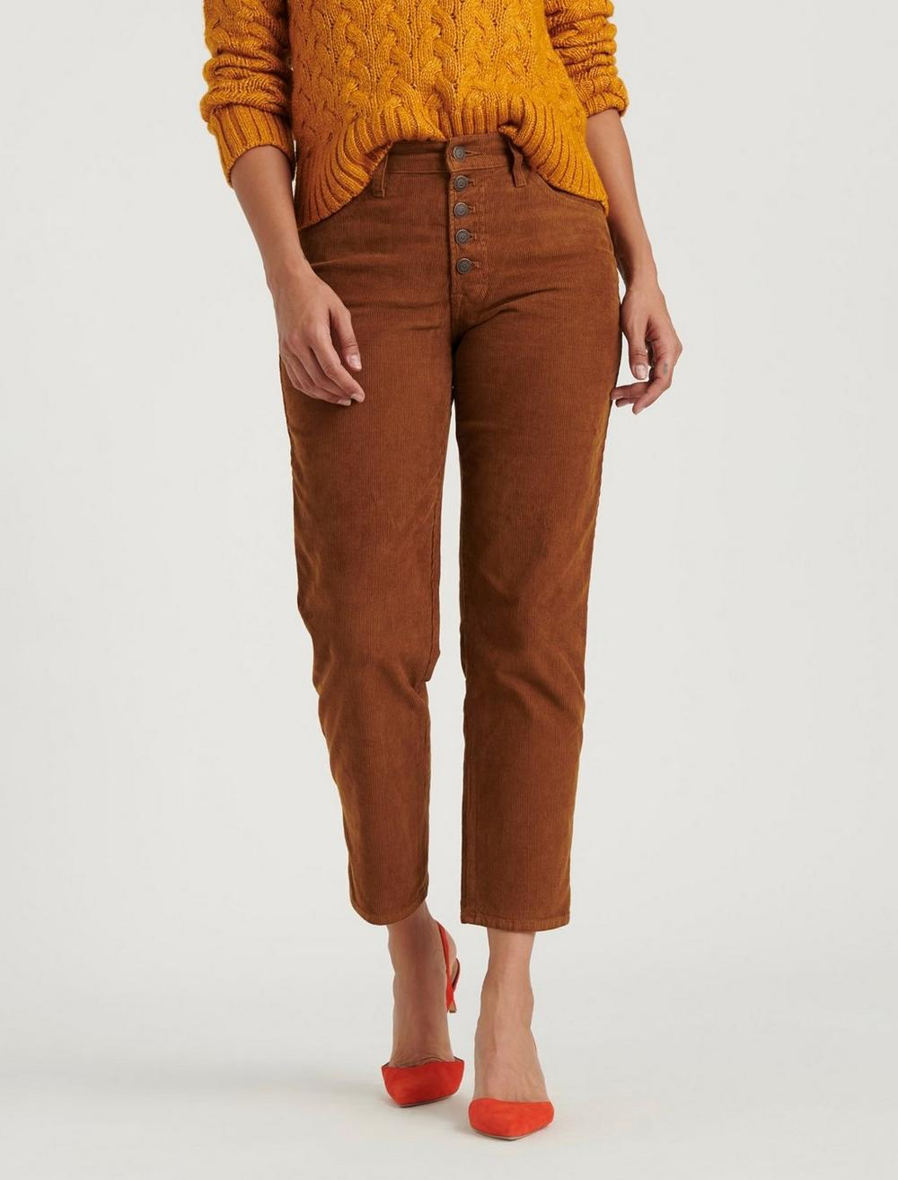 MID RISE AUTHENTIC STRAIGHT CROP CORDUROY JEAN, image 2