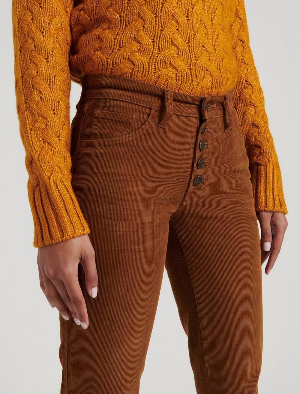 MID RISE AUTHENTIC STRAIGHT CROP CORDUROY JEAN, image 5