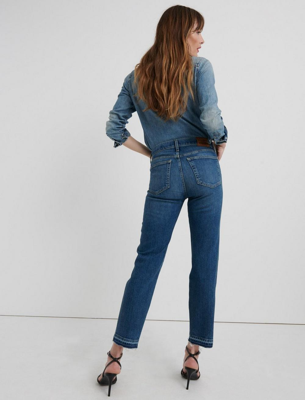 MID RISE AUTHENTIC STRAIGHT CROP JEAN, image 3