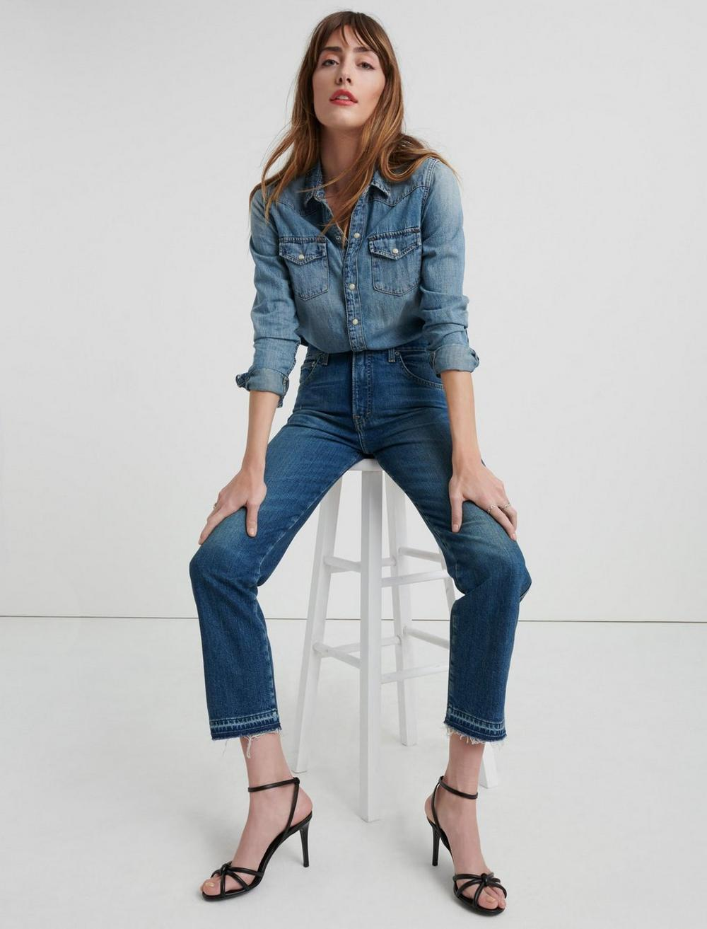 MID RISE AUTHENTIC STRAIGHT CROP JEAN, image 5