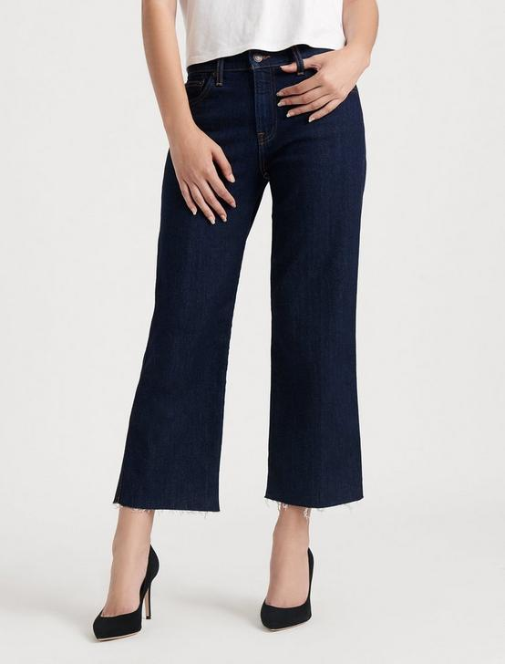 MID RISE CROP WIDE LEG JEAN, RINSE CT, productTileDesktop