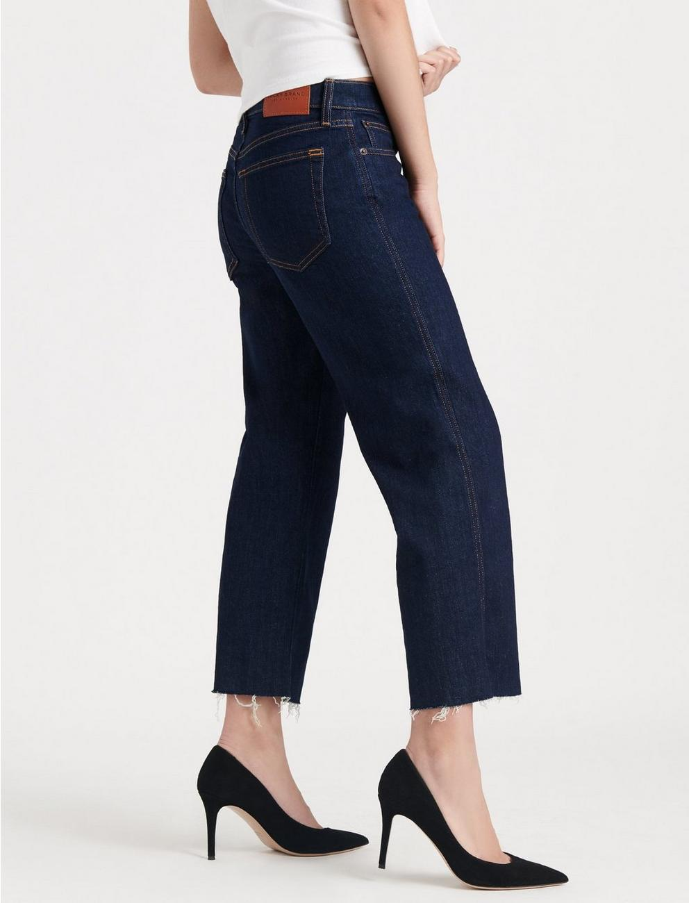 MID RISE CROP WIDE LEG JEAN, RINSE CT